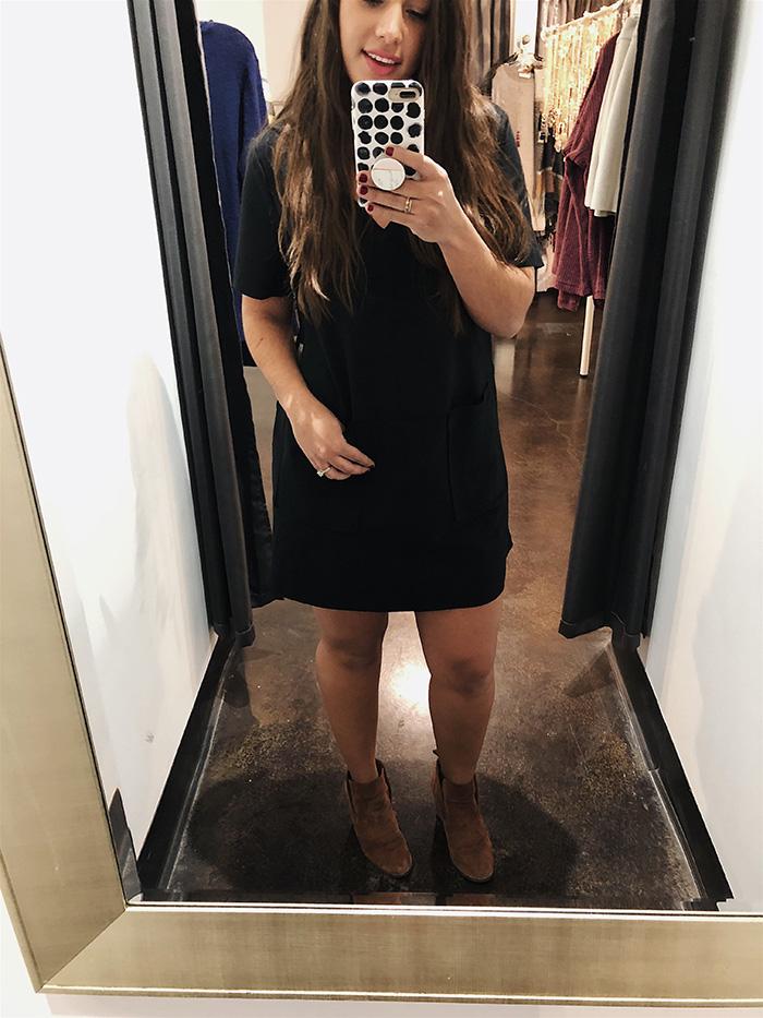 black shift dress from mod