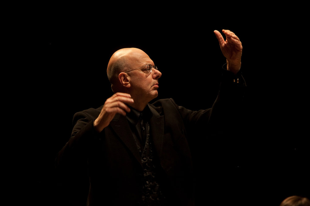 Conducting the American Symphony Orchestra - Photo by Matt Dine