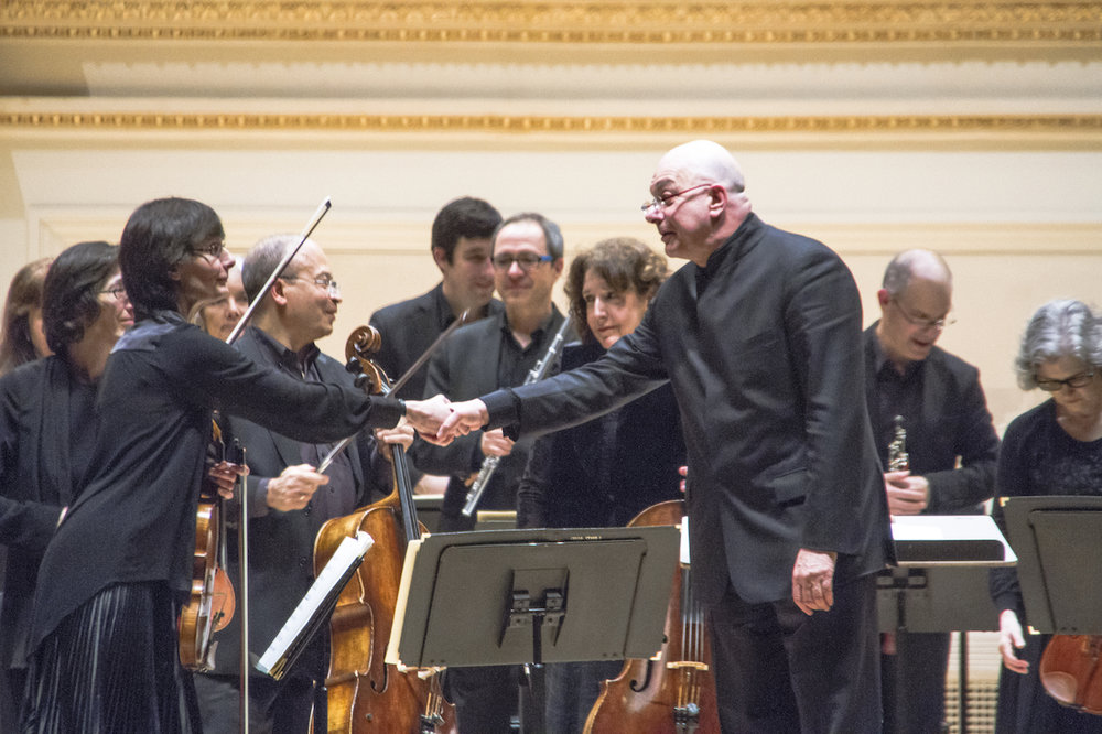 With the American Symphony Orchestra at Carnegie Hall - Photo by Jito Lee