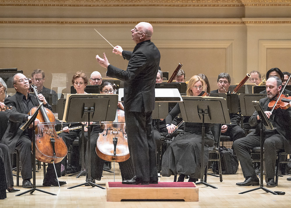 Conducting the American Symphony Orchestra at Carnegie Hall - Photo by Matt Dine