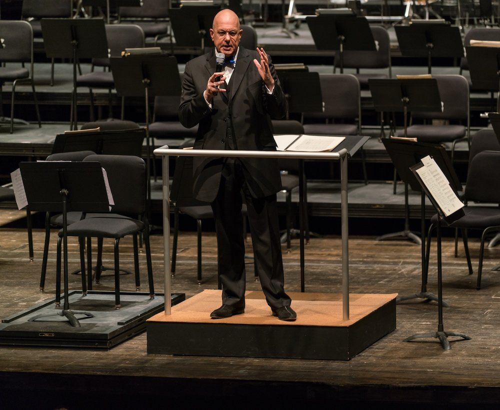 Giving a pre-concert talk at the Fisher Center at Bard College - Photo by Matt Dine