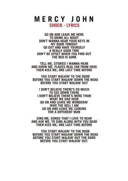Lyrics Mercy John