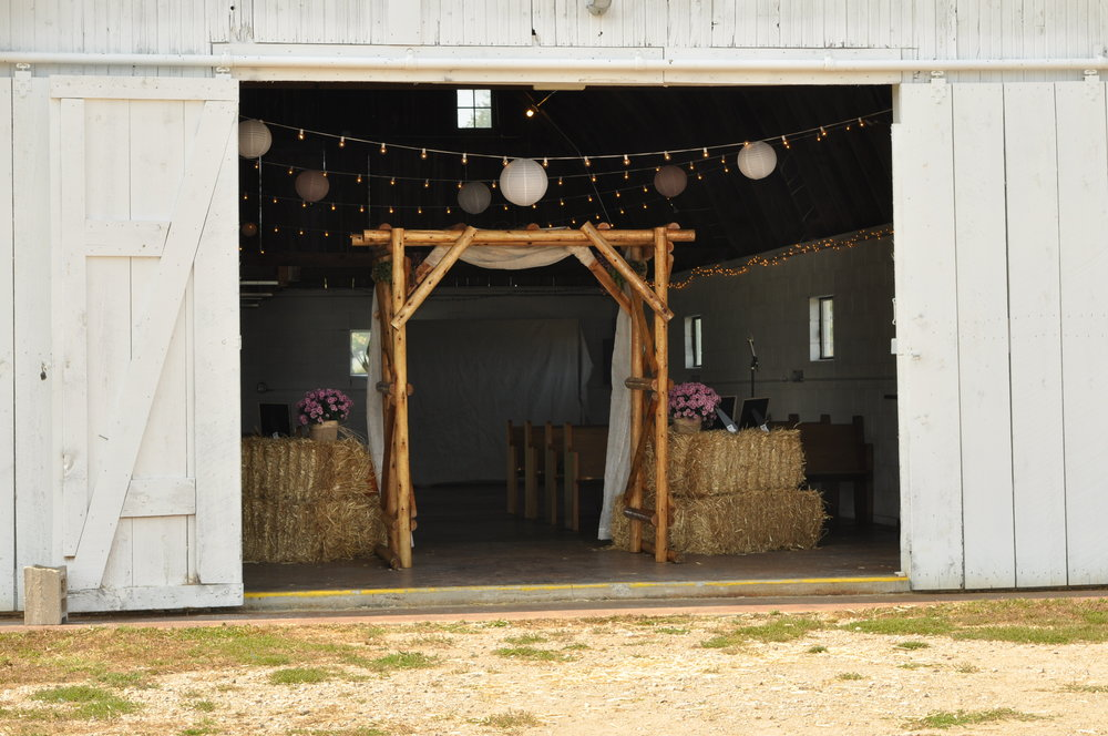 Small Barn View (often used for ceramony)