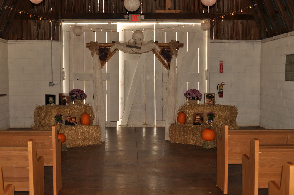 Inside View of Small Barn