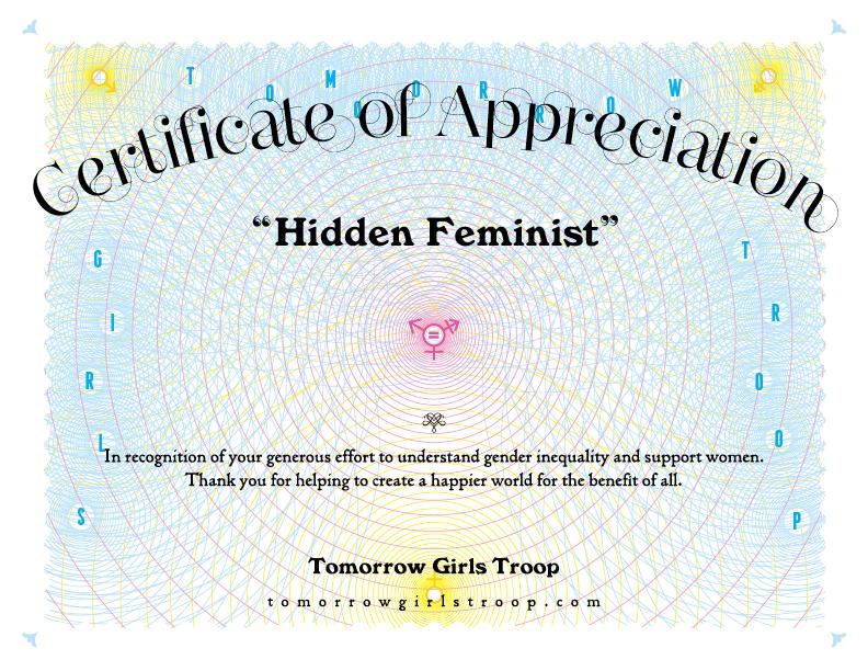 Hidden Feminist Certificate