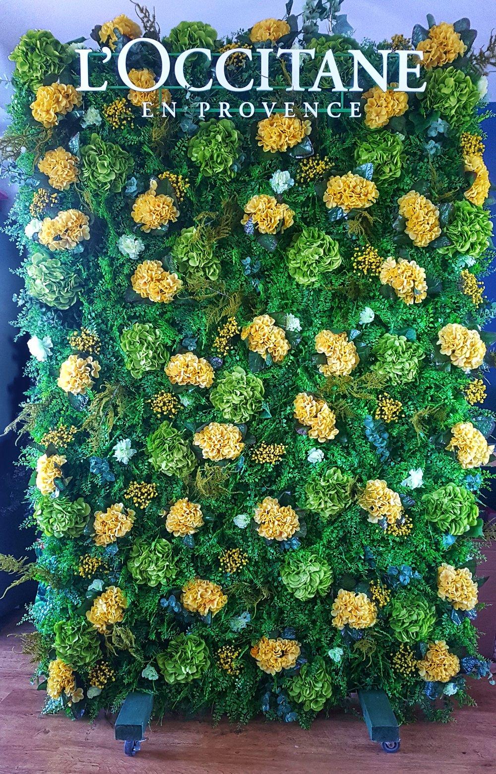 L'Occitane bespoke flower wall.jpeg