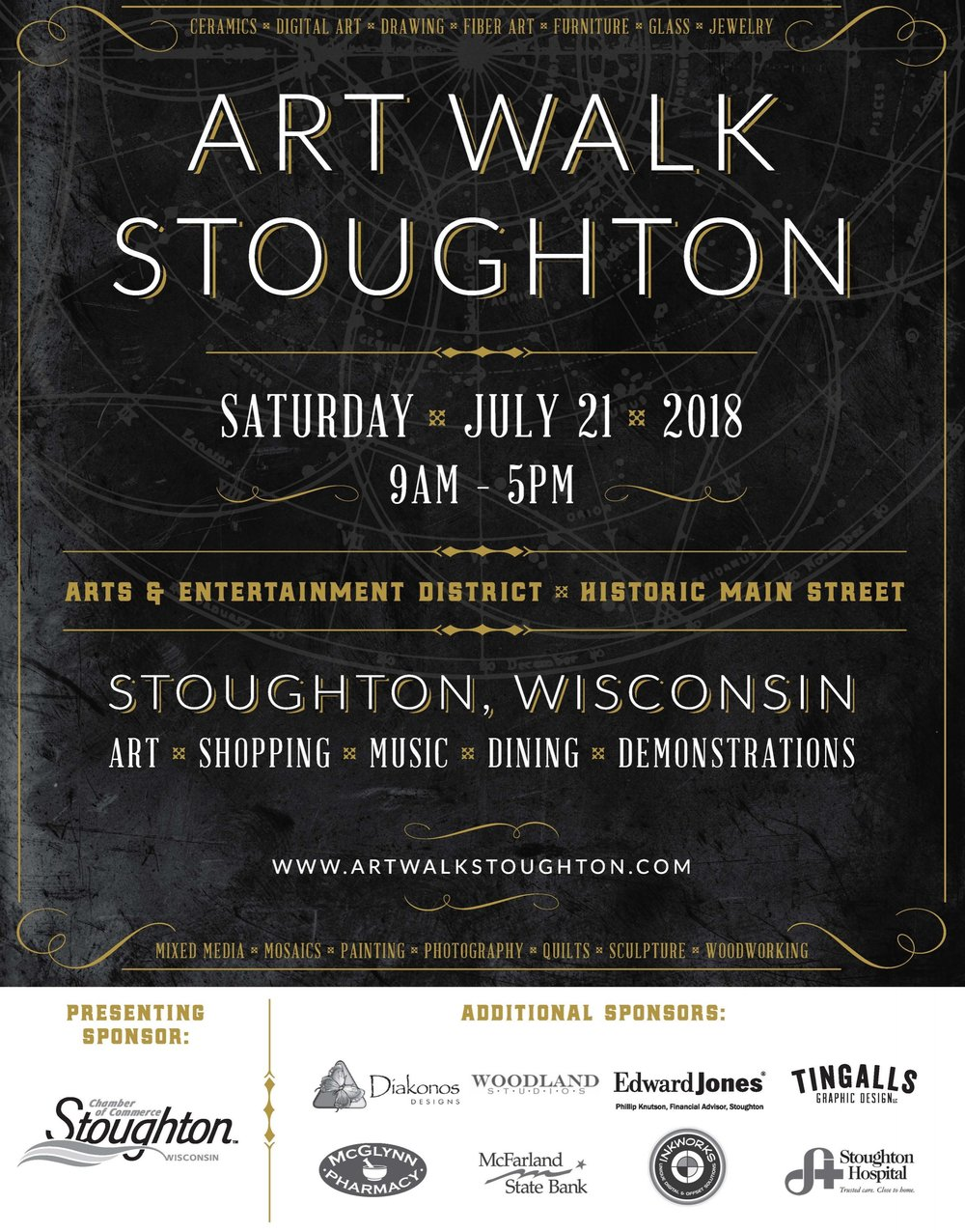 art walk stoughton 2018 map page 1