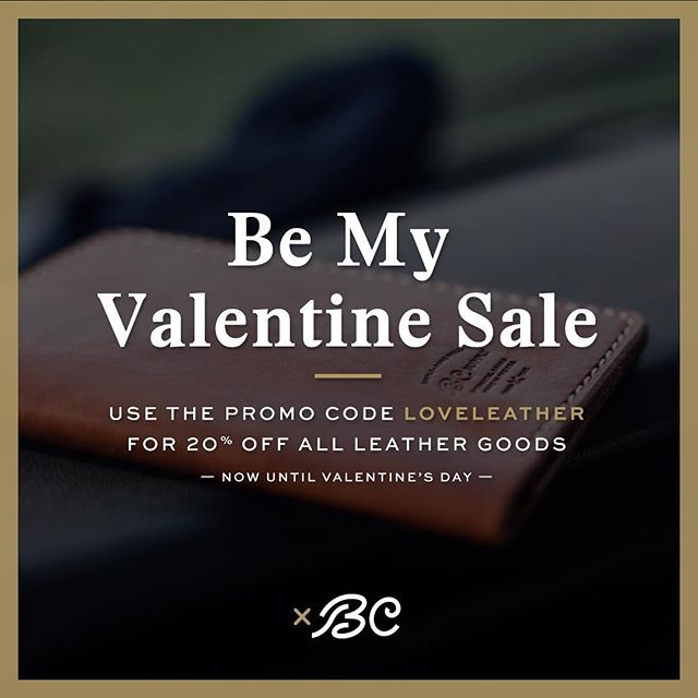 Ladies, the men in your life need love too! Why not spoil him with a killer wallet, or a belt that gives him some room to grow...? This leather will last for years to come. Promo code LOVELEATHER for 20% off. @bcsupply