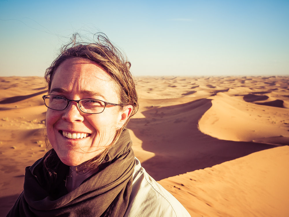 Jasmine in the sahara desert, morocco
