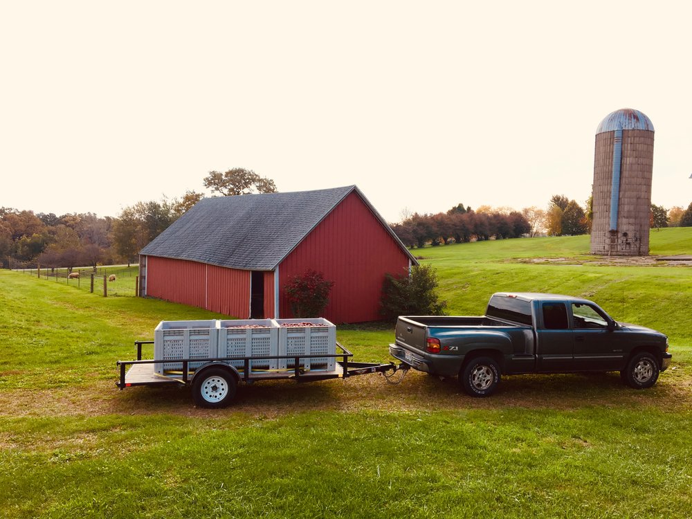 Above: Our truck parked at Early Autumn Farm, one of the orchards where we picked apples in 2018