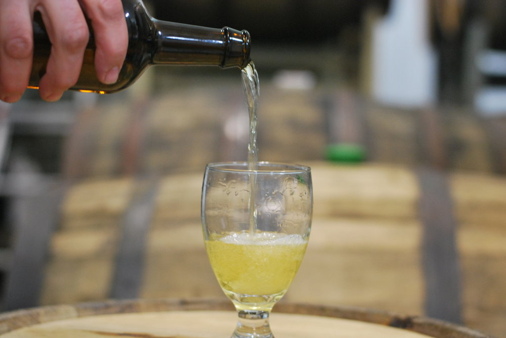 Rye Whiskey Barrel Aged Cider