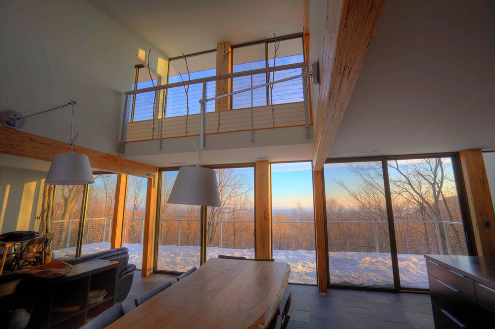 interior with a view on snow