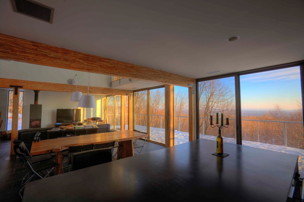 expansive view in open concept home