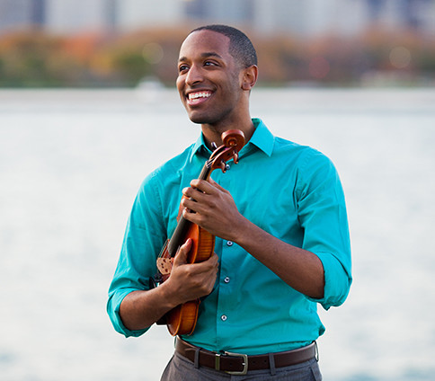 Kyle Dickson holds degrees from Michigan State University College of Music and DePaul University. He was a prize-winning laureate at the 2012 NANM National Concerto Competition, the Simon Clements Music Competition (2007), and the James Tatum Foundation for the Arts Scholarship Competition (2008). His solo and chamber music collaborations include appearances at the Arts League of Michigan, WFMT's Make Music Chicago, Taneycomo Chamber Players, Cello Plus Chamber Music Festival, Ebenezer AME Cultural Series, Lunchtime in Paradise Concert Series Up and Coming, and the Milwood Series. He has given masterclasses at Indiana University-South Bend as first violinist of the Chicago Solisti Quartet and the Naperville School of Performing Arts as a member of Chicago Sinfonietta's PI Quartet.