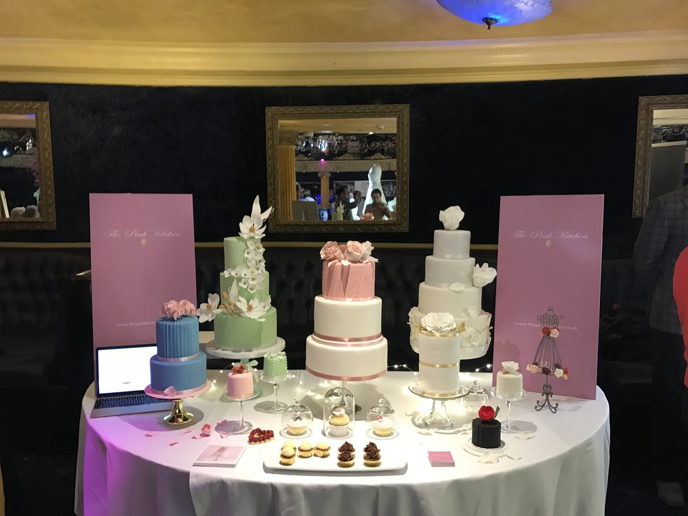 Our stand at the show were beautiful. Wedding cakes, wedding cupcakes, delicious samples and cookies.