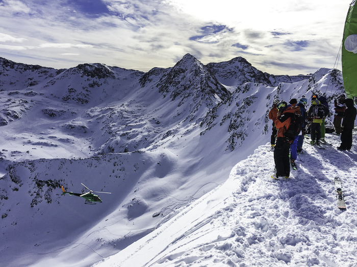 The view from the top of the first stop of the Freeride World Tour, Andorra