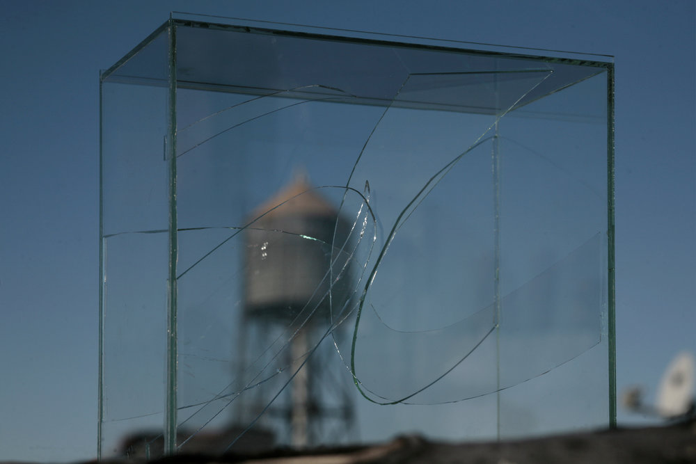 SCULPTURES 2012-18   Glass boxes filled with cut and broken glass.
