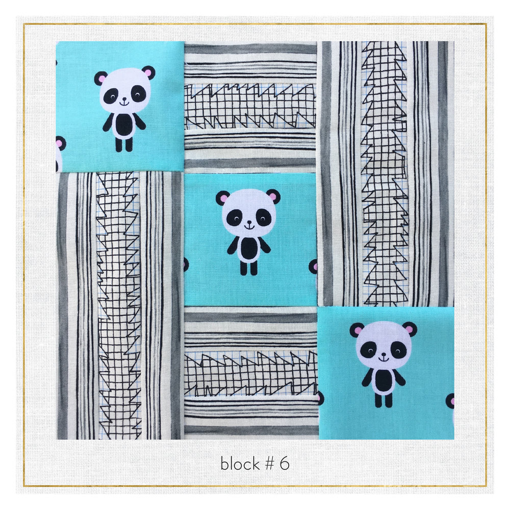 This block features Doe by Carolyn Friedlander, Petal by Margaret Berg, and Urban Zoologie by Ann Kelle.