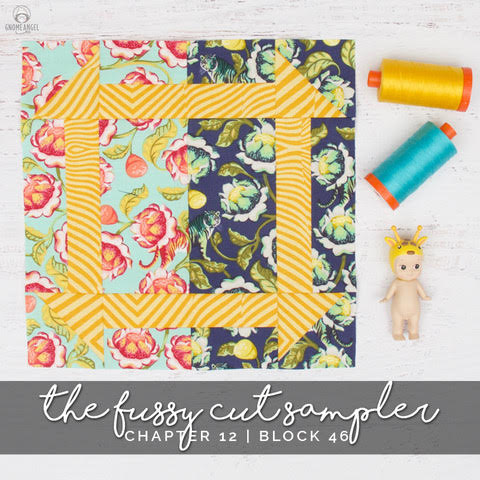 Our talented guest star for the day,  Angie of Gnome Angel , created this absolutely delightful block using these dashing Tigers!
