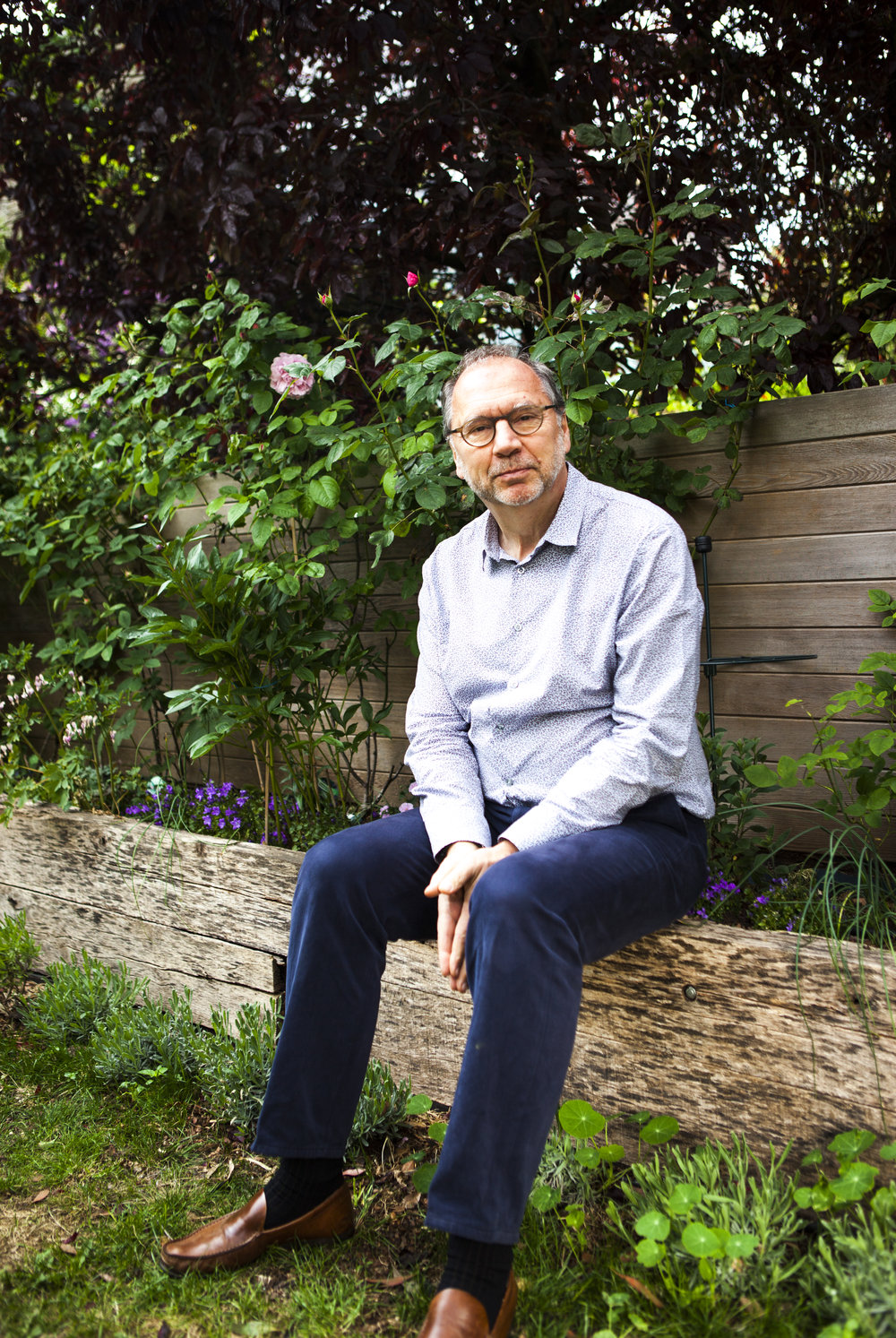 Professor Peter Piot in his home in London for FT Weekend.