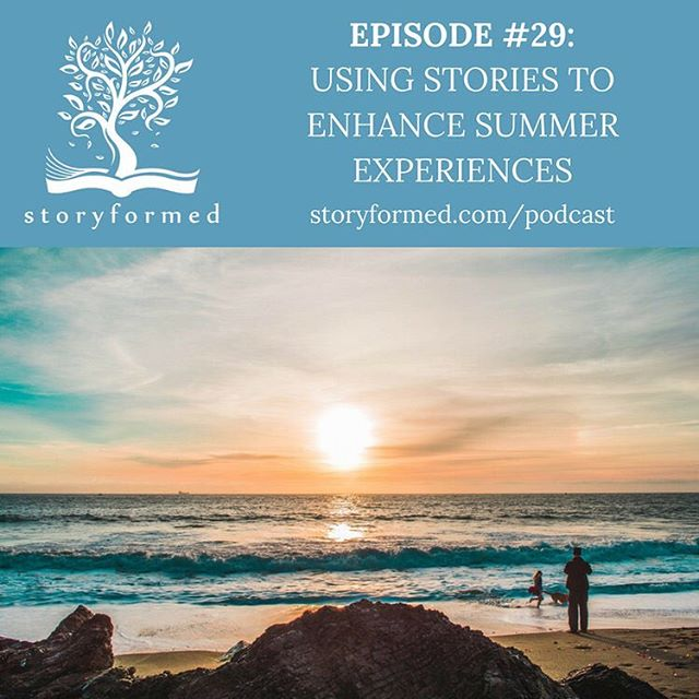 Do you want to travel more with your kids, but realize this may not be a likely reality in your near future? Or maybe you are traveling soon and want to enhance your experience through reading books about the place or culture.  Today on the podcast, @jaime_showmaker and I share about their summer plans and give book recommendations to aid you in transporting you and your kids to other countries, the beach, woodlands and many other places and locations.  Topics include: *The value in taking advantage of more space in summer to read *Ways to travel to nearby or faraway places through books *How to create summer booklists with your kids *Book recommendations  Podcast link in profile.