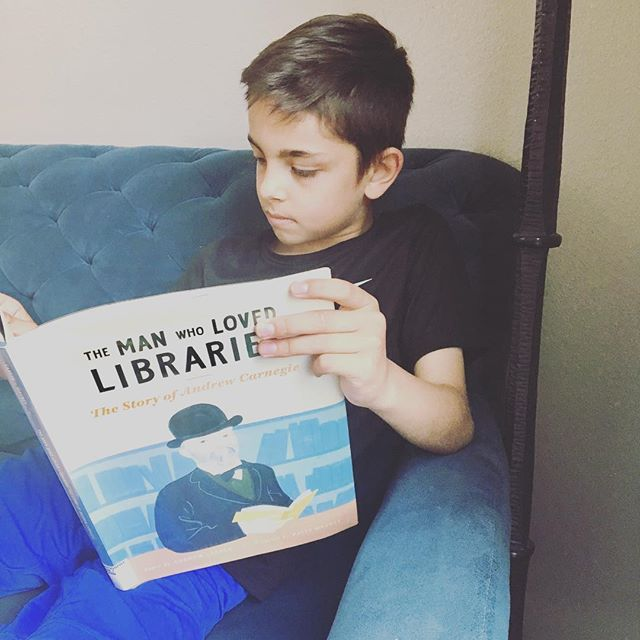 "If you and your kids want to learn more about Andrew Carnegie, check out this book The Man Who Loved Libraries. ""When you open the door to a library, a world of opportunity awaits."" #storyformed #storyformedlife #reading #picturebooks"