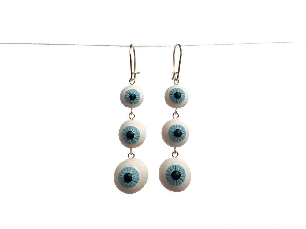 Eye Tiered Polymer Clay Earring