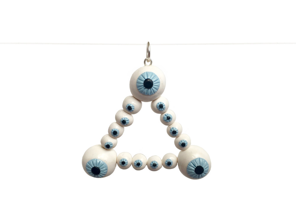 Eye Triad Polymer Clay Charm