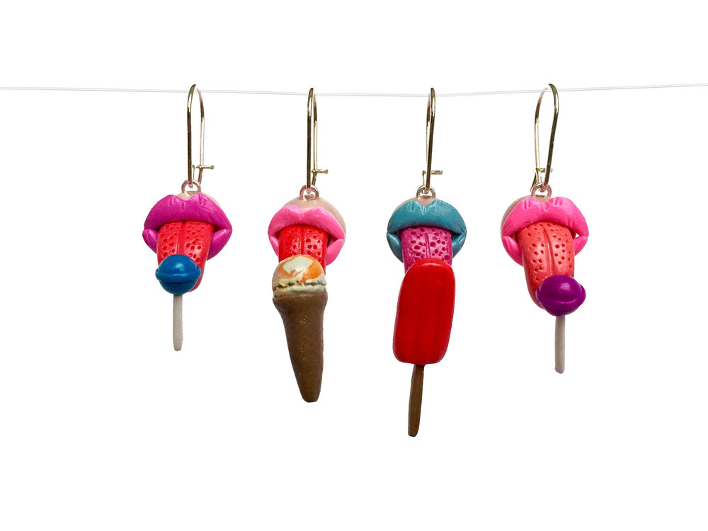 Lollipop Ice Cream Popsicle Polymer Clay Earring