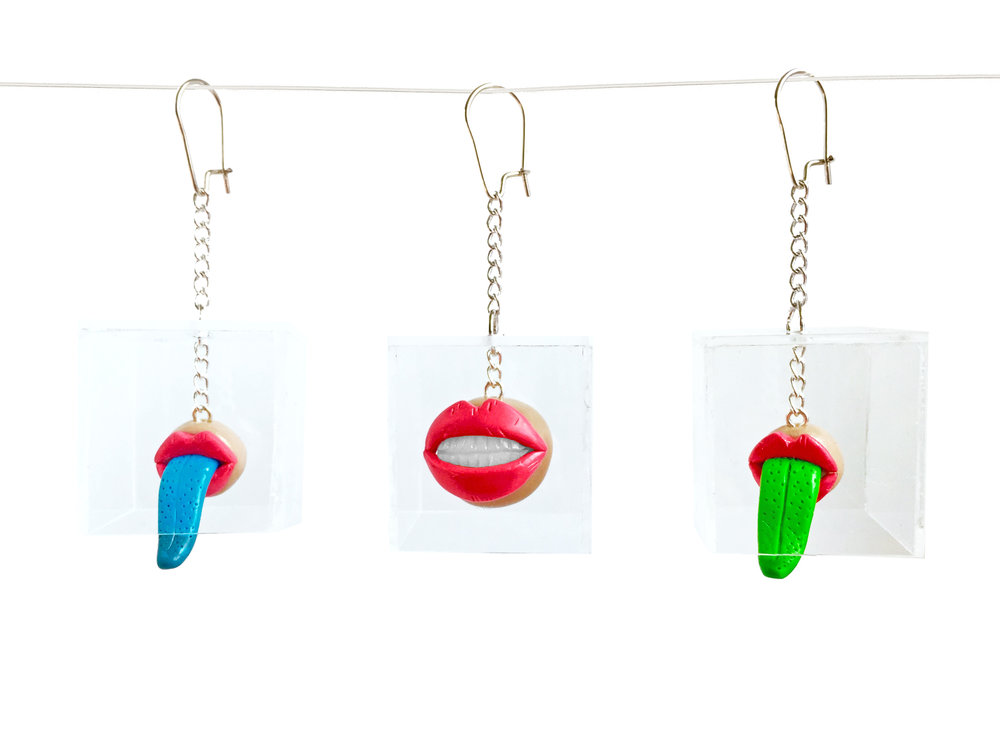 Mouth Box Polymer Clay Earring