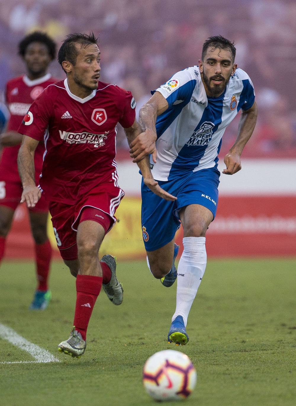 Richmond Kickers face off team Espanyol, at Kickers Stadium, July 25, in Richmond, VA.  Photos for Richmond Times-Dispatch