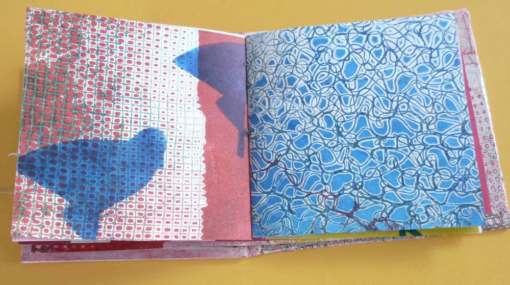 Collagraph, stencil, artist book