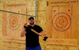 Scott Highlander, a Highland Park native, switched gears from his previous life as a lawyer to owning one of the only axe throwing companies in all of Chicago: Thunderbolt Chicago Axe Throwing. After being introduced to the art of axe throwing by one of his friends, Scott realized he loved the sport and decided to venture out and start his own business in the perfect location: Six Corners. He wanted to make Thunderbolt accessible to everyone in the neighborhood by providing coaches with the throwing experience and allowing walk-in groups of all sizes, so anyone that is curious can come in and try it out for themselves. League players can even qualify for the National Axe Throwing Federation Nationals in Toronto!