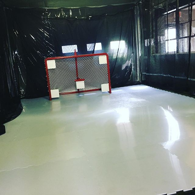 It's getting real people... The shooting lane is almost ready. Hockey off-season training is starting soon! For more info contact us at info@xhockeyperformance.com or call 908.322.2003
