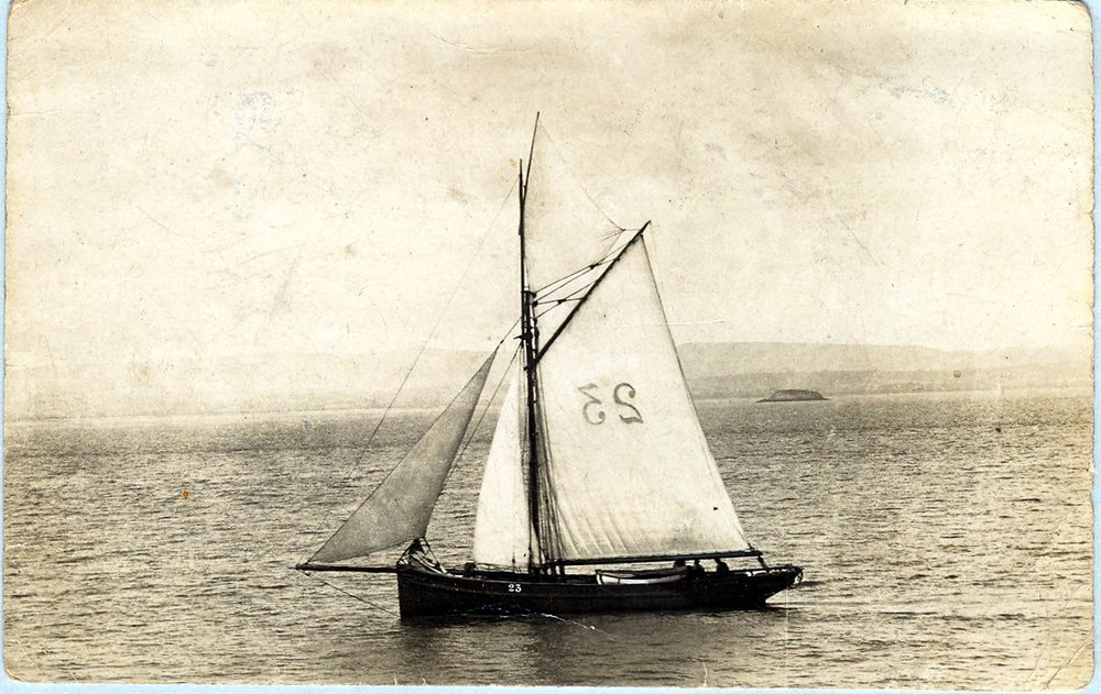 Pilot Cutter off 'Flatholm' in the Bristol Channel