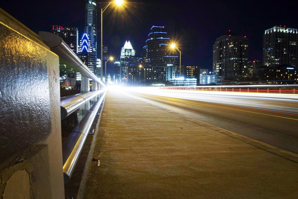 Exposed by Light Austin Photographer Light Trails South Congress