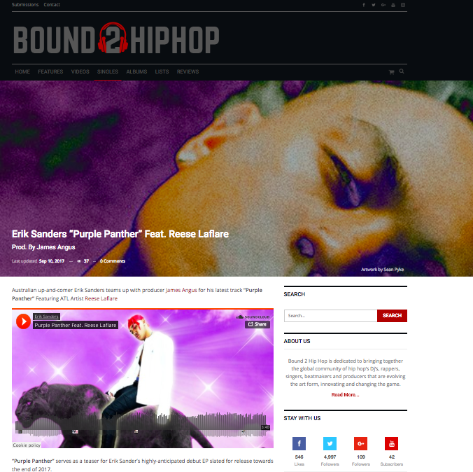 Bound 2 Hip Hop: Singles - September 10th 2017