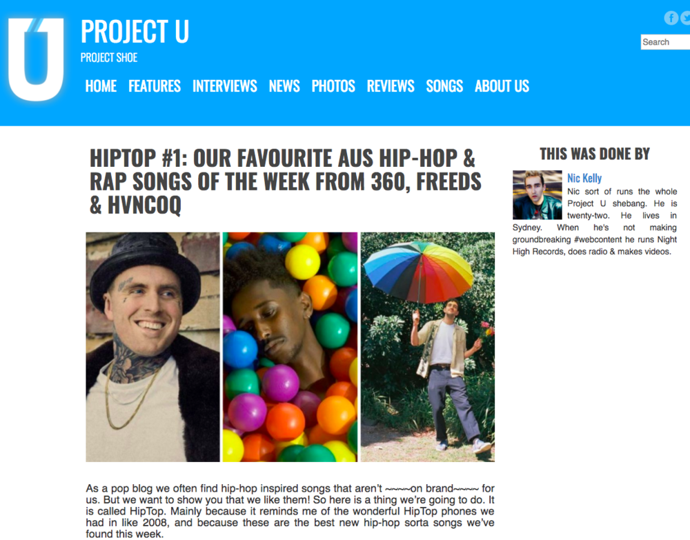 Project U: HipTop #1 -