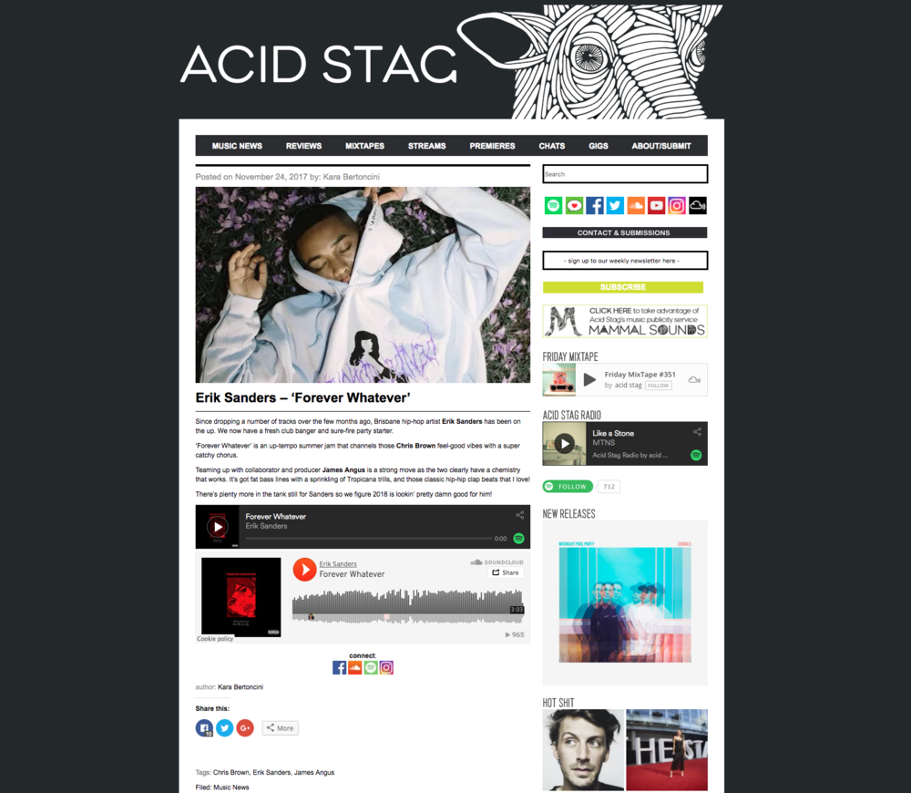 Acid Stag: Music News - November 24th 2017