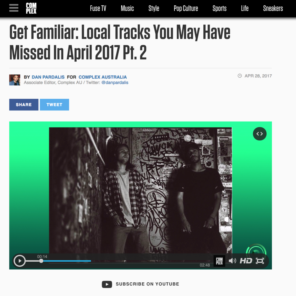 Complex: Get Familiar - April 26th 2017