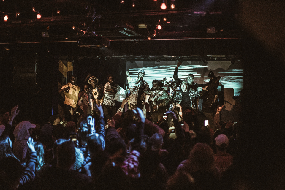 Lil Spacely & Big Skeez performing at BIG SWELL to a packed out Oxford Art Factory in Sydney, Saturday 1st July, 2017