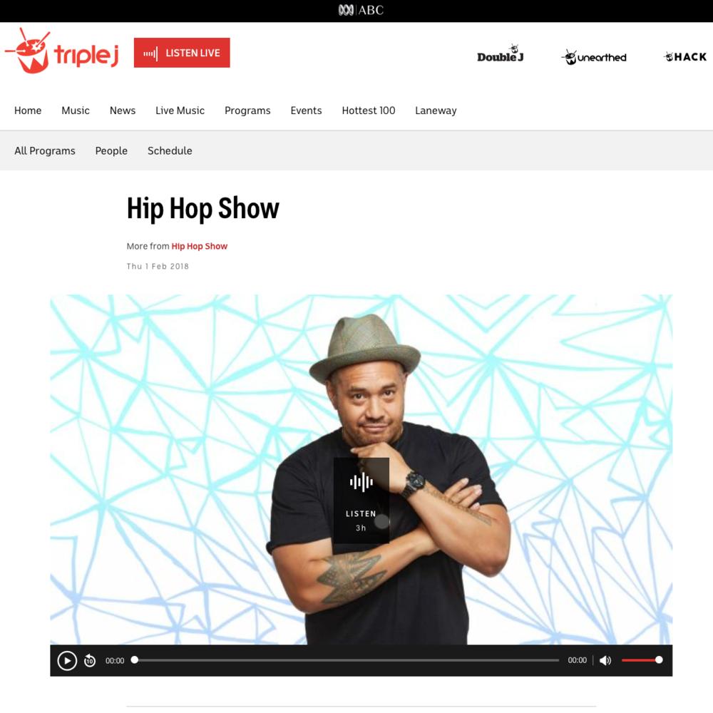 Triple J: The Hip Hop Show - February 1st 2018