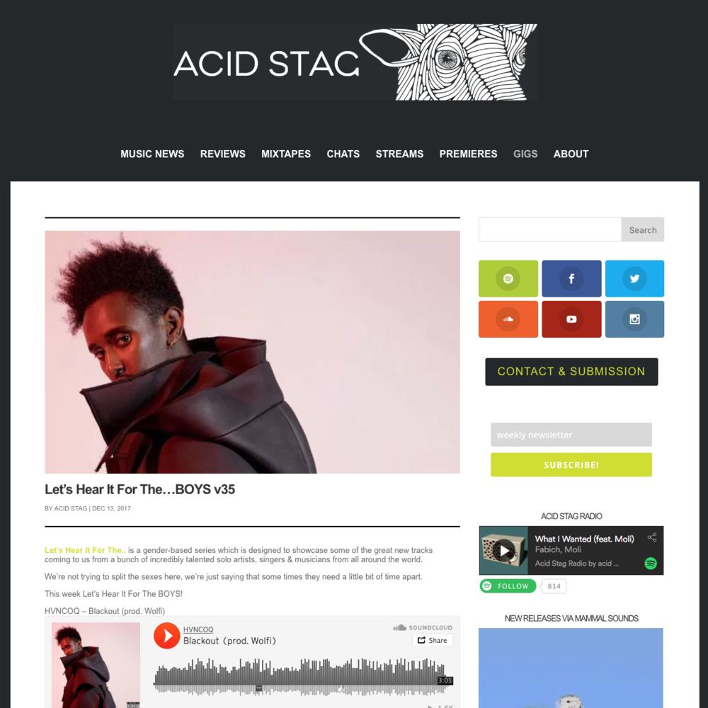 Acid Stag - December 13th 2018