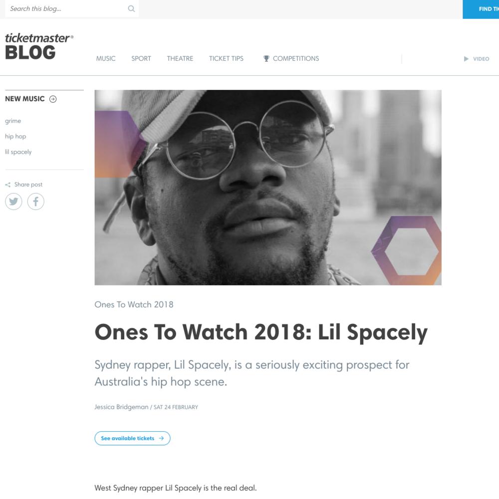 Ticketmaster Blog - February 24th 2018