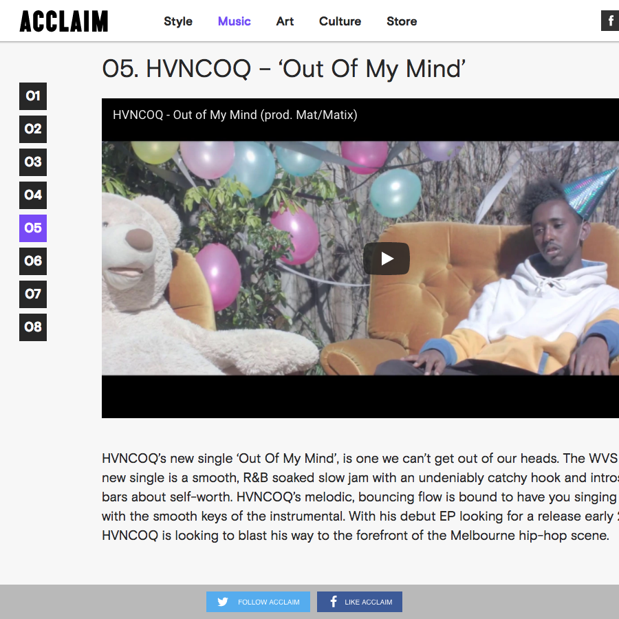 Acclaim: Music -