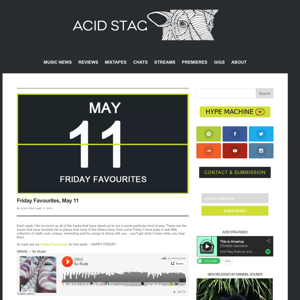 Acid Stag - May 11th 2018