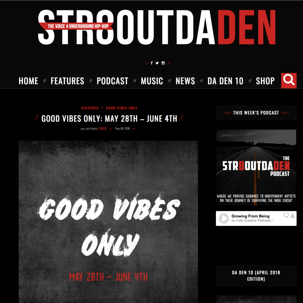 Str8OutDaDen - May 28th 2018