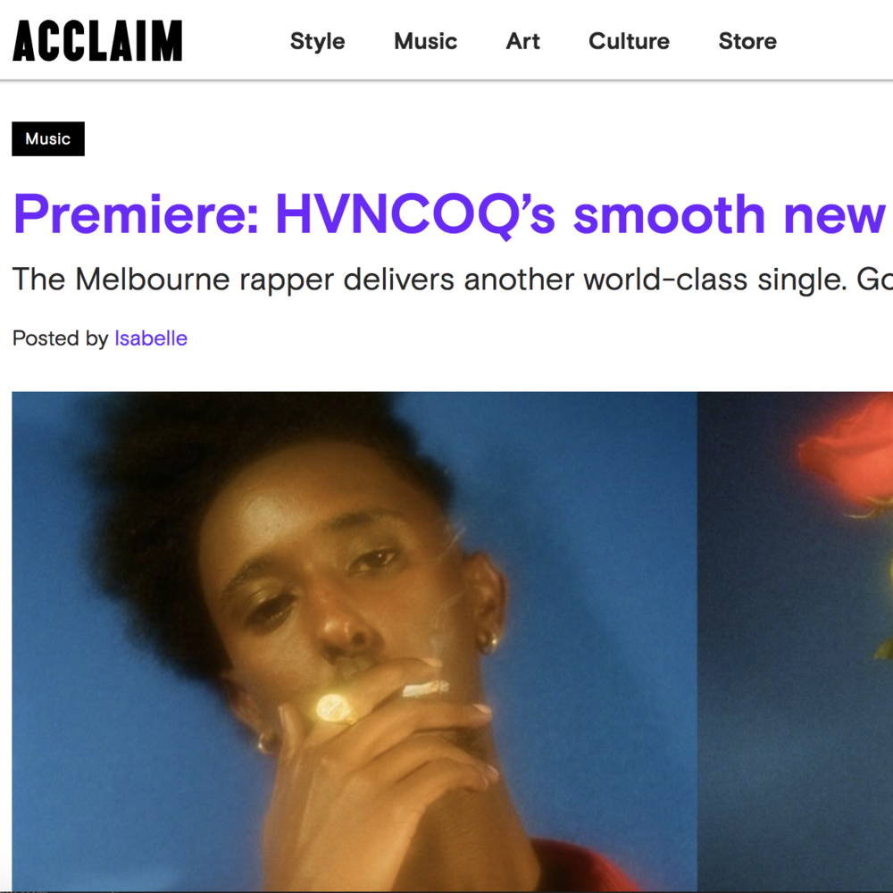 PREMIERE: ACCLAIM Magazine - October 19th 2018