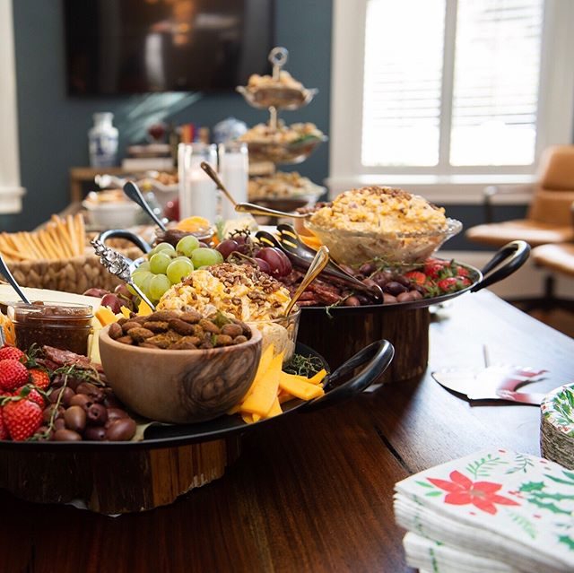 And, if Santa doesn't entice you to attend next year's holiday open house, maybe the food will. Job well done @lindseysculinarymarket #financialplanning #thegreenhouse #holidayparty