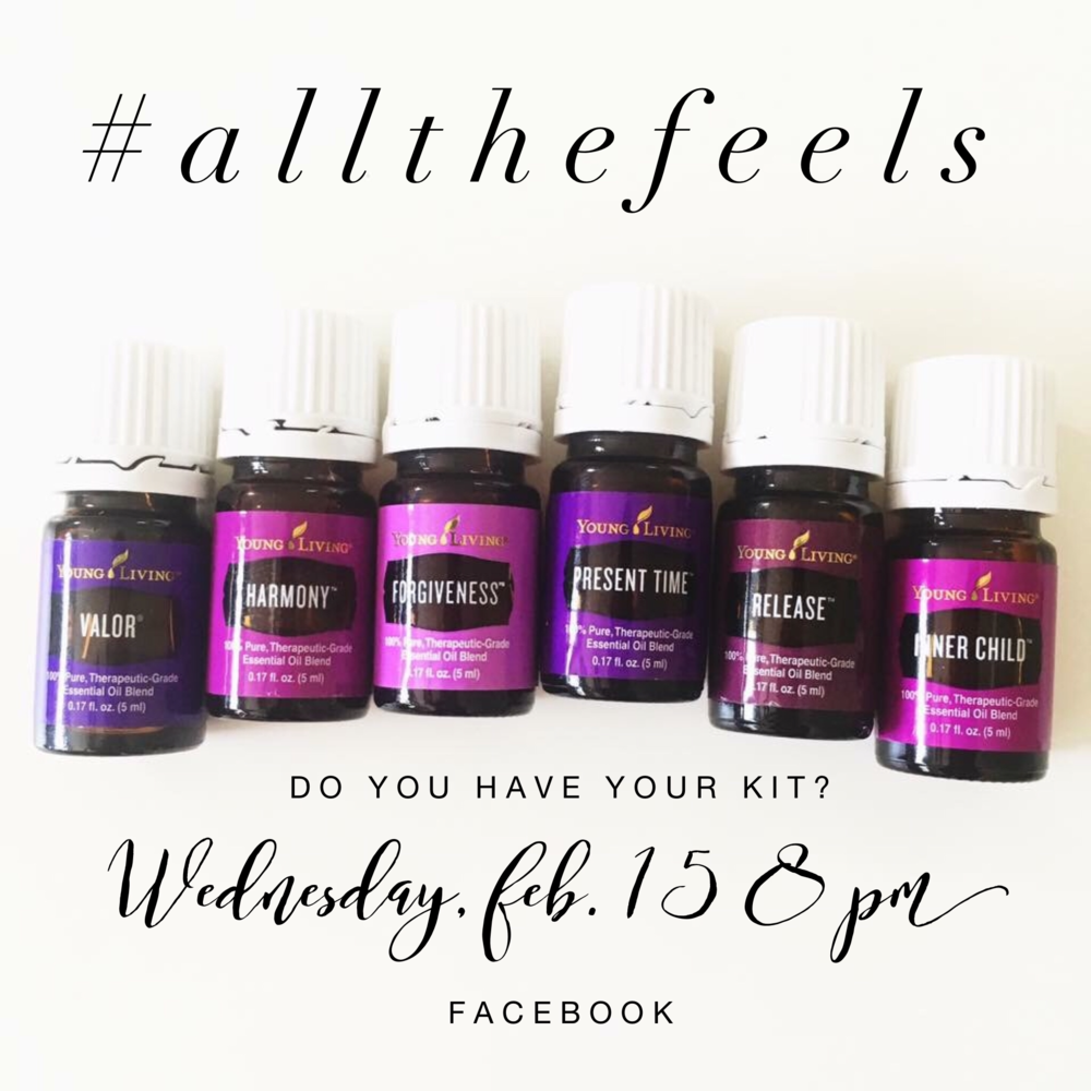 Young Living - The Feelings Kit (includes Valor II, Harmony, Forgiveness, Present Time, Release & Inner Child.